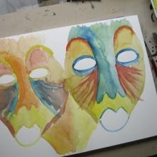 Spätestens beim Malen des Hintergrundes …